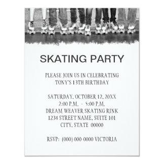 """Invitaciones patinadoras del fiesta invitación 4.25"""" x 5.5"""""""