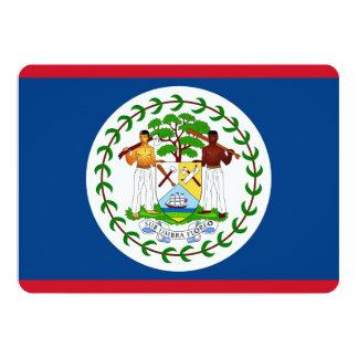 Invitaciones patrióticas con la bandera de Belice Invitacion Personalizada