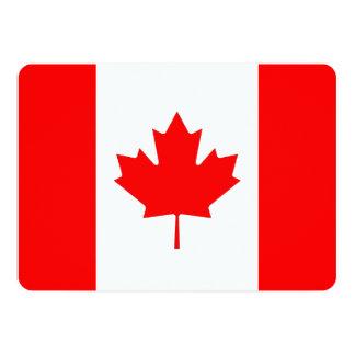 """Invitaciones patrióticas con la bandera de Canadá Invitación 5"""" X 7"""""""