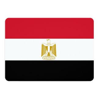 """Invitaciones patrióticas con la bandera de Egipto Invitación 5"""" X 7"""""""