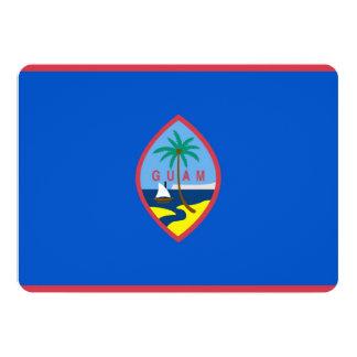 """Invitaciones patrióticas con la bandera de Guam Invitación 5"""" X 7"""""""