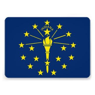 Invitaciones patrióticas con la bandera de Indiana Comunicado