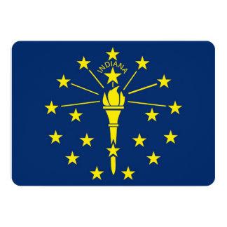 """Invitaciones patrióticas con la bandera de Indiana Invitación 5"""" X 7"""""""