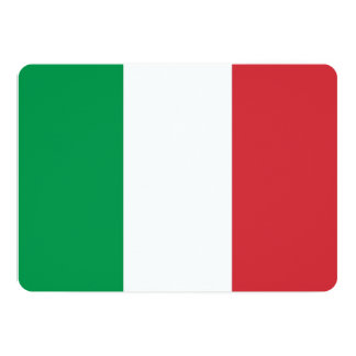 """Invitaciones patrióticas con la bandera de Italia Invitación 5"""" X 7"""""""