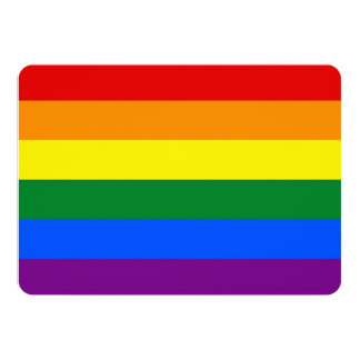 """Invitaciones patrióticas con la bandera de LGBT Invitación 5"""" X 7"""""""