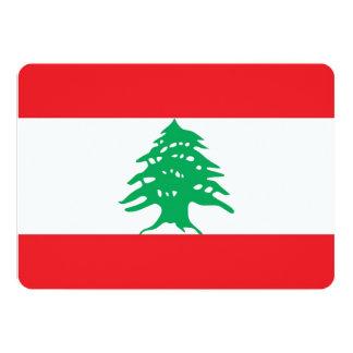 """Invitaciones patrióticas con la bandera de Líbano Invitación 5"""" X 7"""""""