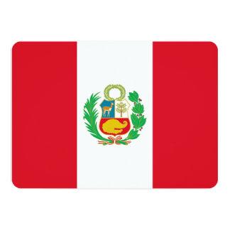 """Invitaciones patrióticas con la bandera de Perú Invitación 5"""" X 7"""""""