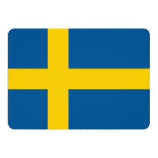 """Invitaciones patrióticas con la bandera de Suecia Invitación 5"""" X 7"""""""