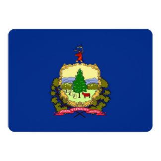 """Invitaciones patrióticas con la bandera de Vermont Invitación 5"""" X 7"""""""