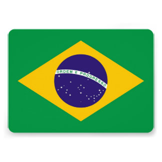 Invitaciones patrióticas con la bandera del Brasil