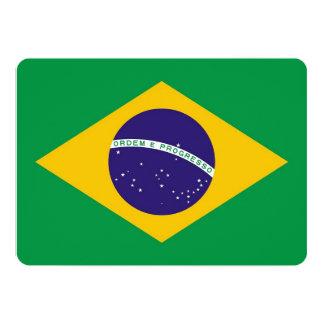 """Invitaciones patrióticas con la bandera del Brasil Invitación 5"""" X 7"""""""