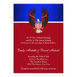 Invitaciones patrióticas del rojo, blancas y anuncios personalizados