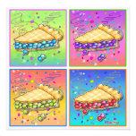 Invitaciones - pedazo de arte pop de la empanada comunicado personal