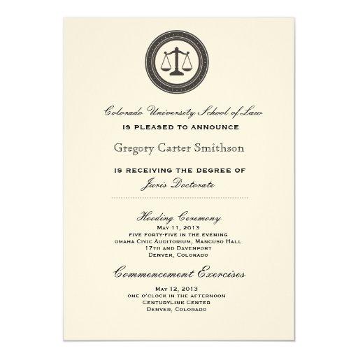 Invitaciones personalizadas de la graduación del invitación 12,7 x 17,8 cm