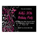 Invitaciones personalizadas del cumpleaños postales