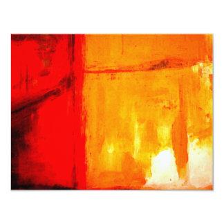 Invitaciones personalizadas pintura abstracta invitación 10,8 x 13,9 cm