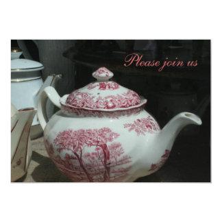 Invitaciones personalizadas Teatime Invitación 12,7 X 17,8 Cm