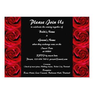 Invitaciones - personalizado negro rojo especial invitacion personalizada