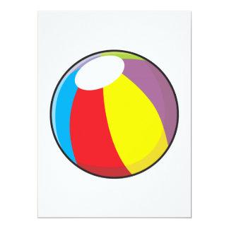 """Invitaciones plásticas inflables de encargo de la invitación 6.5"""" x 8.75"""""""