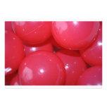 Invitaciones plásticas rojas de las bolas invitación personalizada
