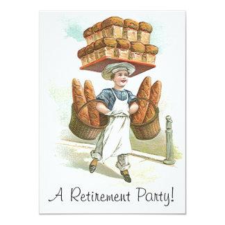 """Invitaciones principales del retiro del panadero invitación 4.5"""" x 6.25"""""""