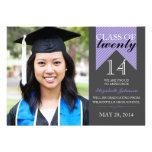 Invitaciones púrpuras 2014 de la graduación de la  comunicados personales