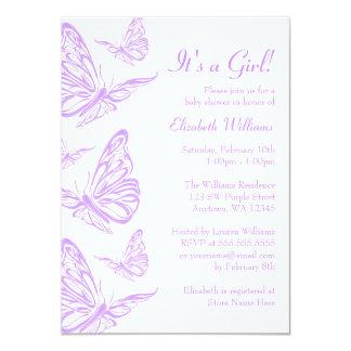 Invitaciones púrpuras bonitas de la fiesta de invitación 11,4 x 15,8 cm