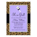 Invitaciones púrpuras de la fiesta de bienvenida anuncios personalizados