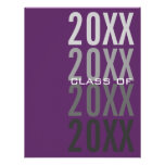 invitaciones púrpuras de la fiesta de graduación 2 invitaciones personalizada