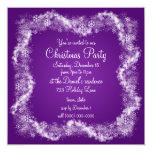 Invitaciones púrpuras de la fiesta de Navidad Anuncios Personalizados