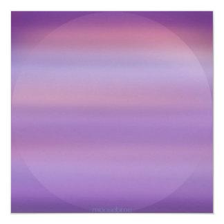 Invitaciones púrpuras de la niebla de la luna invitación 13,3 cm x 13,3cm