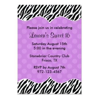 Invitaciones púrpuras de las invitaciones del comunicado personal