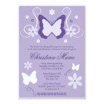 Invitaciones púrpuras de Quinceanera de la Invitación 12,7 X 17,8 Cm