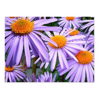 Invitaciones púrpuras del aster invitación 13,9 x 19,0 cm