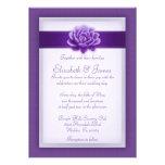 Invitaciones púrpuras del boda