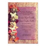 Invitaciones púrpuras del boda de la caída de las invitación 11,4 x 15,8 cm