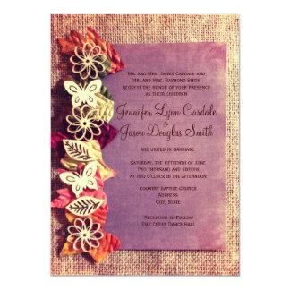 Invitaciones púrpuras del boda de la caída de las comunicado personal
