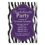 Invitaciones púrpuras del fiesta de Bachelorette d