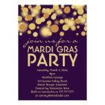 Invitaciones púrpuras del fiesta del carnaval del  invitación