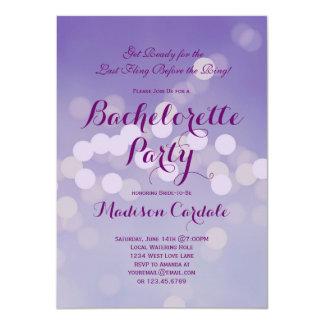Invitaciones púrpuras modernas del fiesta de Bokeh Invitacion Personal