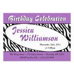 Invitaciones púrpuras ovales del cumpleaños del es