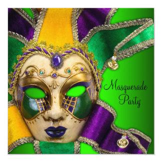 Invitaciones púrpuras verdes del fiesta de la invitación 13,3 cm x 13,3cm