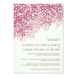 Invitaciones que se casan ligeras violetas de la invitación 12,7 x 17,8 cm
