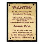Invitaciones queridas del poster al fiesta invitación 10,8 x 13,9 cm