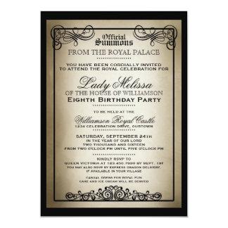 """Invitaciones reales de la fiesta de cumpleaños de invitación 5"""" x 7"""""""