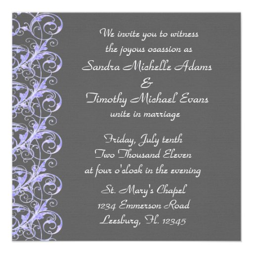 Invitaciones reales del boda de Lavendar y del hum Invitaciones Personales