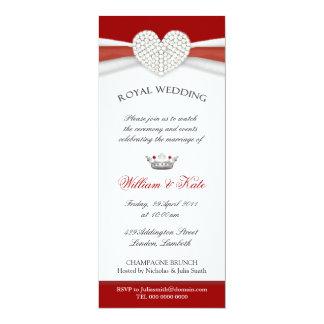 Invitaciones reales del fiesta de casa del boda comunicado personal