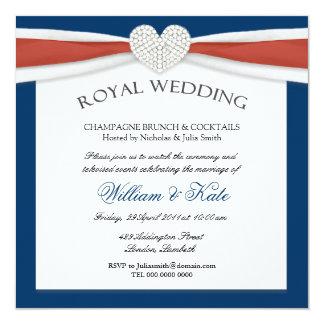 Invitaciones reales del fiesta de casa del boda invitación