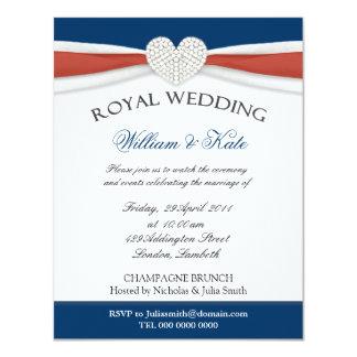 Invitaciones reales del fiesta de casa del boda anuncio personalizado