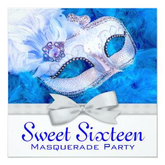 Invitaciones reales del fiesta de la mascarada de anuncios personalizados